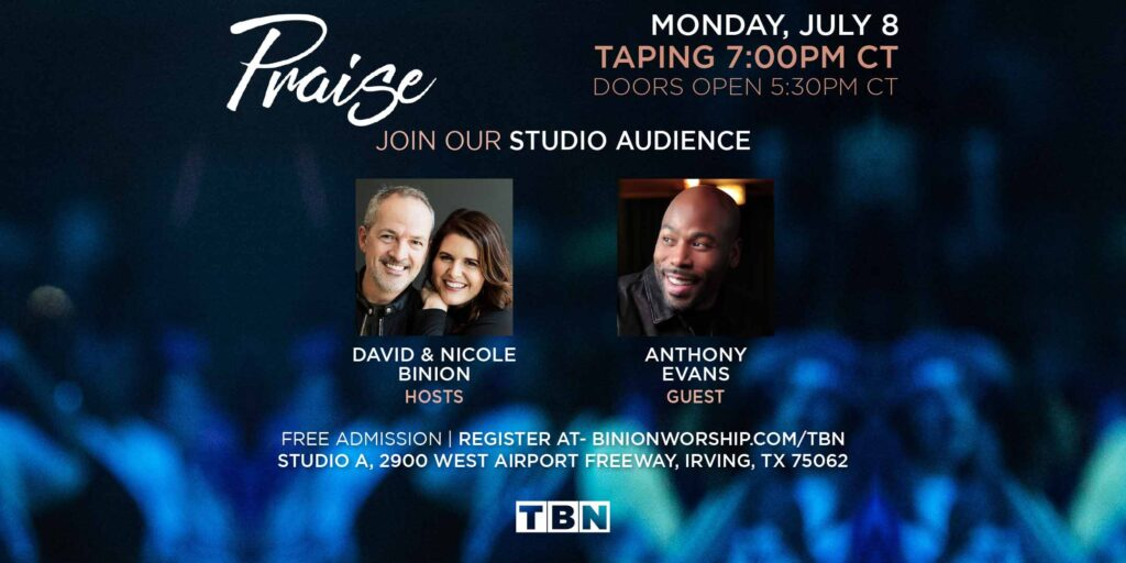 Anthony Evans will debut his latest album Altared in a live TBN event hosted by David and Nicole Binion